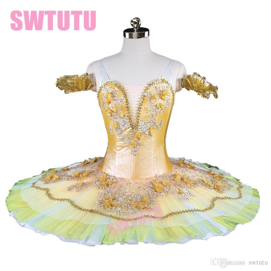 2953e522a 2019 Ballet Stage Costume Pancake Tutu Adult Yellow Professional Ballet Tutu  Paquita Classical Ballet Tutus Gold Women BT9145 From Swtutu, $220.11 |  DHgate.