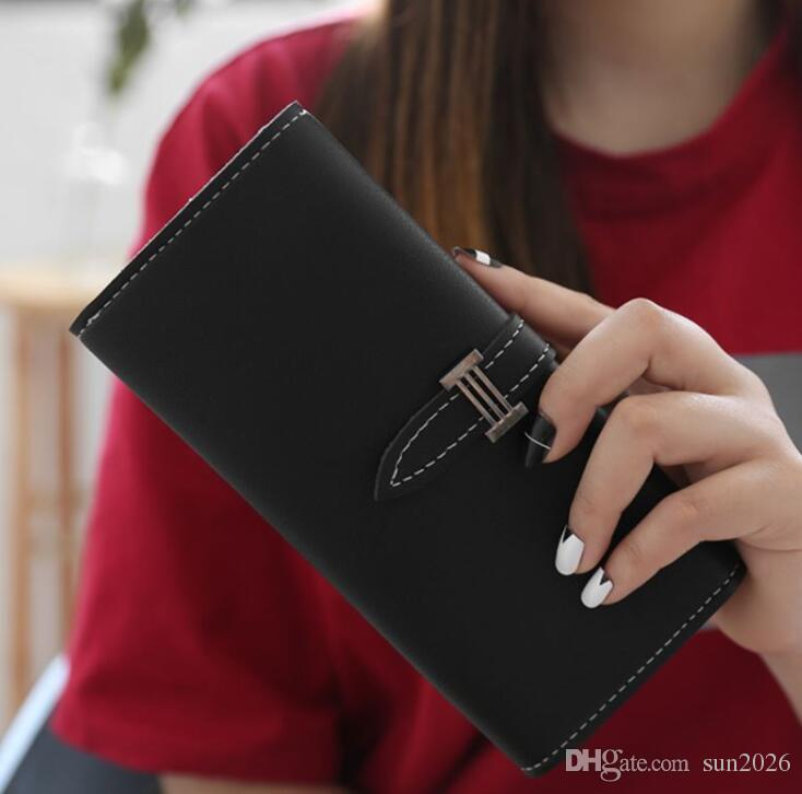 Hot 2019 New Arrival Small Fashion Brand Purse Leather Clutch For Women Ladies Card Bag Female Purse Money Clip Wallet For Girls Wallet