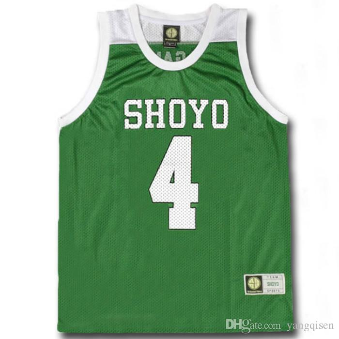 36b84d82e Slam Dunk Cosplay Costume SHOYO NO.4 Enji Fujima Basketball Jersey School  Basketball Team Uniform Clothing Vest Size M XXL Cosplay Costumes Sydney  Buy ...