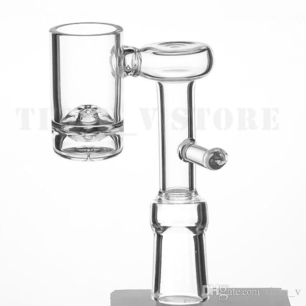 Volcanic Core Domeless Quartz Electric Banger Nail For 20mm Heating Coil 9mm Bottom 90 Degree Glass Water Bongs Dab Oil Rig 679