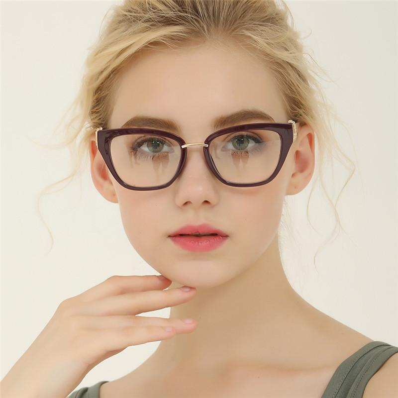 63f15ccf3e 2019 HUITUO New Style Retro Flat Mirror Cat Eye Style Personality Big Box  Flat Mirror Literary High Quality Spectacles Fake Glasses From Daliangzhou