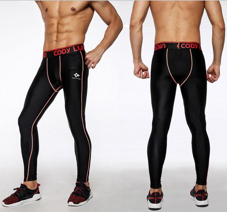 2c95d0f9ef26 Acquista Pantalone Sportivo Da Uomo Running Fitness Da Jogging  Abbigliamento Compressione Pantaloni Lunghi Leggings Sportivi Da Allenamento  Mens ...