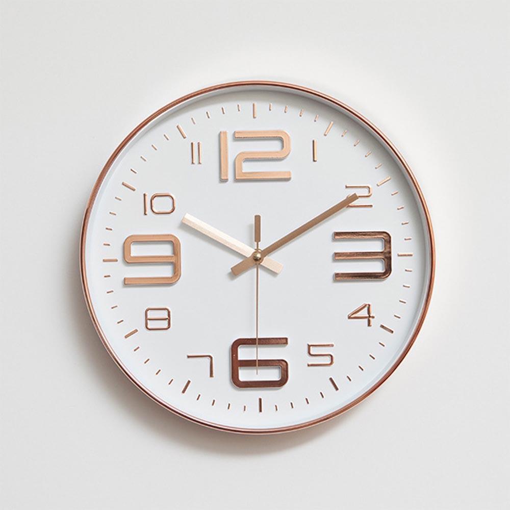 Modern Simple Wall Clocks Living Room Round Thin Box Home Decoration Wall  Clock Bedroom Quiet Metal Clock