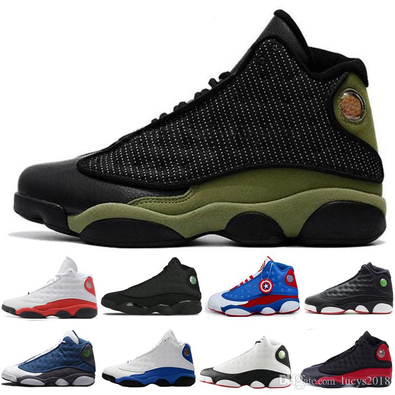 2870a3a03d82eb Mens 13 13s Black Cat Hyper Royal Olive Wheat GS Bordeaux DMP Chicago Men  Women Basketball Shoes 13s Sports Sneaker Jordans Sneakers Sneakers Sale  From ...