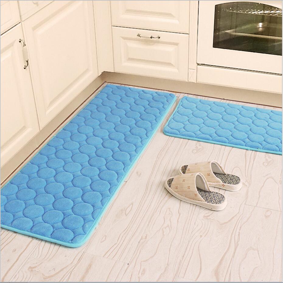 Bathroom Rugs That Absorb Water.50x80 60x160cmcoral Velvet Kitchen Mat Anti Slip Bathroom Carpet