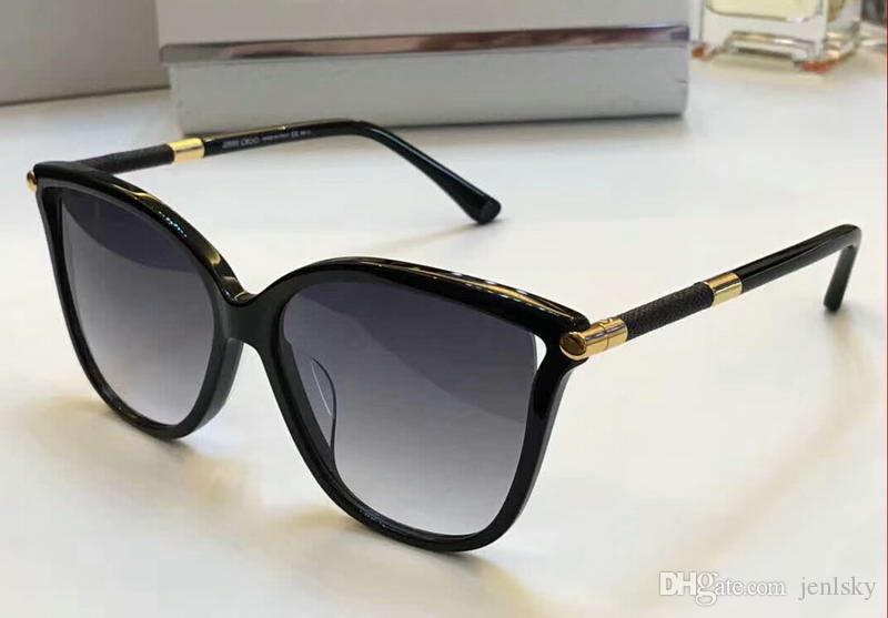 rivenditore di vendita 9461f 3ad80 Occhiali da sole da donna Tatti oro nero / grigio occhiali sfumati  accessori occhiali da sole firmati di lusso da uomo nuovi con scatola