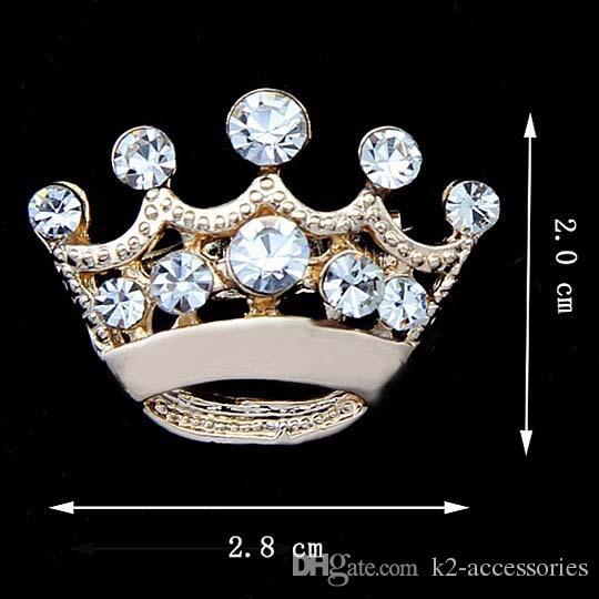 Spilla in oro / tono argento con strass trasparente in cristallo r Spilla moda corpetto da donna con spilla da sposa Bouquet Spille