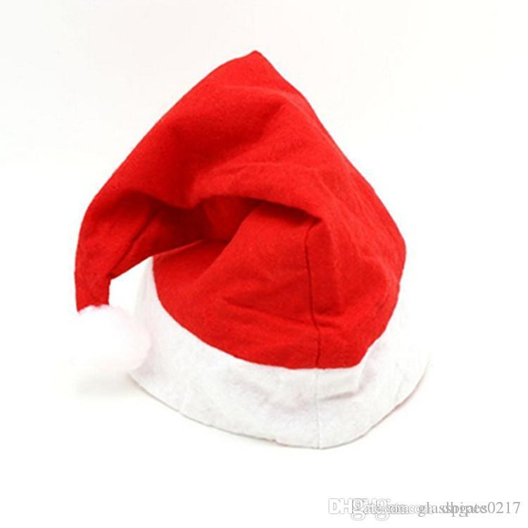 Acquista Cappello Rosso Di Babbo Natale Ultra Morbido Peluche Natale  Cosplay Cappelli Decorazione Di Natale Adulti Cappellini Di Natale 100  Pezzi A  0.41 ... 8bea4fc38372