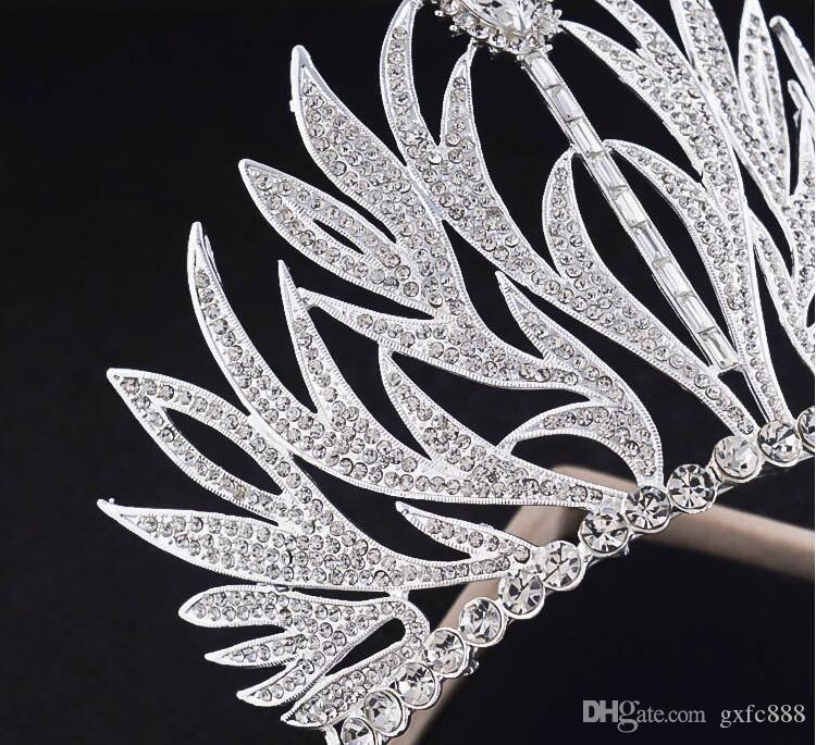 New upscale bridal tiara crown European retro Baroque wedding princess hair ornaments wedding jewelry