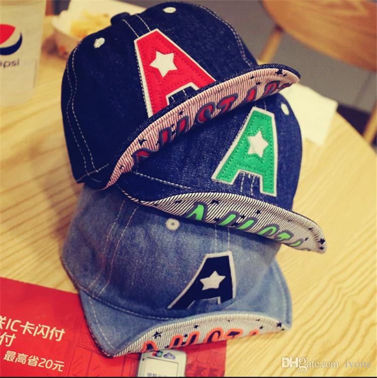 a987cc3e07dbc 2019 Summer Sunshade Cap 0 2 Year Old Baby Baseball Cap Boy Cowboy Hat  Children Letters A Peaked Cap D1021 From Ivone