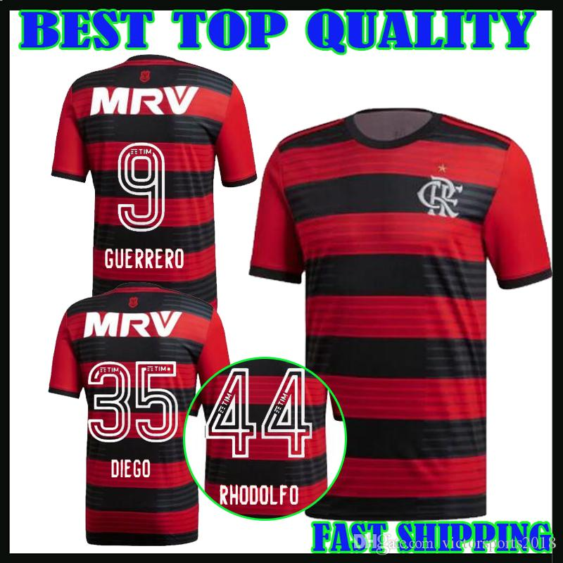 Camiseta De Fútbol Cr Flamengo 2018 Guerrero 18 19 Flamengo De Visitante  Third Yellow Camisa De Futebol Camisetas De Fútbol Diego 2018 Vinicius Jr  Maillot ...