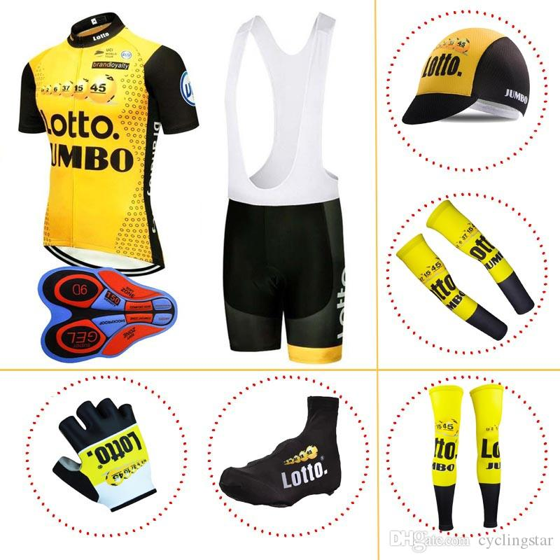 LOTTO Team Summer Full Set 100% Polyester Cycling Jersey Short ... 684b33efc