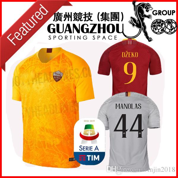 fa148bbc0 18 19 Roma THIRD AWAY Soccer Jerseys Home PASTORE 27 DZEKO 9 ...