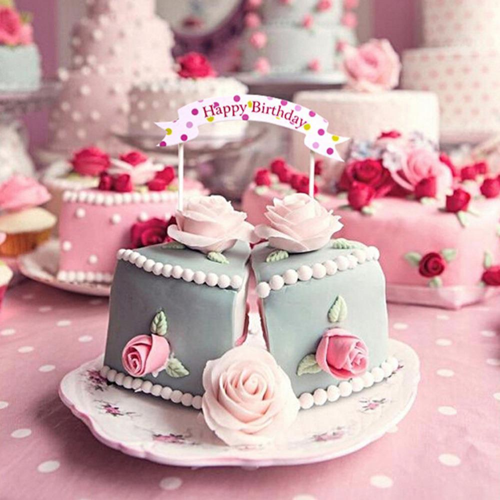 Grosshandel 2018 Lovely Kuchen Backen Dekoration Happy Birthday