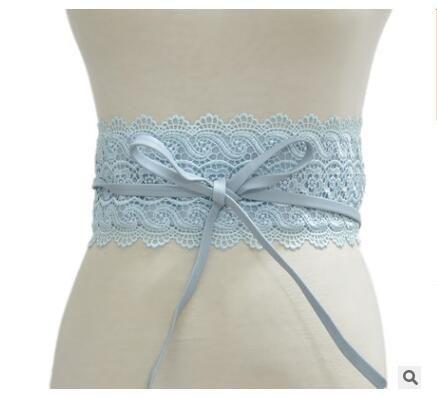 2018 New Black White Wide Corset Lace Belt Female Self Tie Obi Cinch Waistband Belts for Women Wedding Dress Waist Band