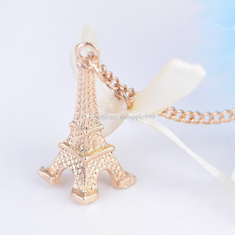 Klasik Paris Eyfel Kulesi Anahtarlık Kristal Metal Anahtarlık Anahtarlık Araba Anahtarlıklar Çanta Charms Çanta Kolye En Iyi Hediye