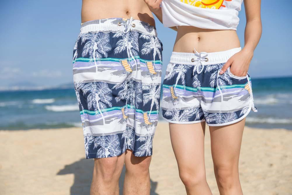 c4b284203b1 Qick Dry Men Beach Swim Shorts Trunks Swimwear Lovers Swimsuits Mens Swim  Board Surf Shorts Trunks Running Sports Beach UK 2019 From Bailanh