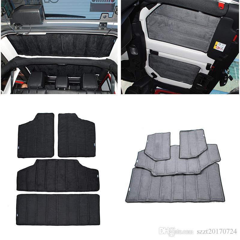 Car Roof Heat Insulated Cotton For 4 Door Black Auto Interior