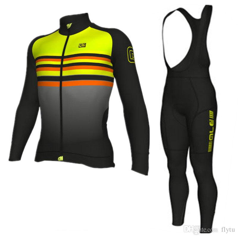 fb540f1fd ALE Team 2018 Pro Cycling Jersey Set Long Sleeve Breathable MTB Bike ...