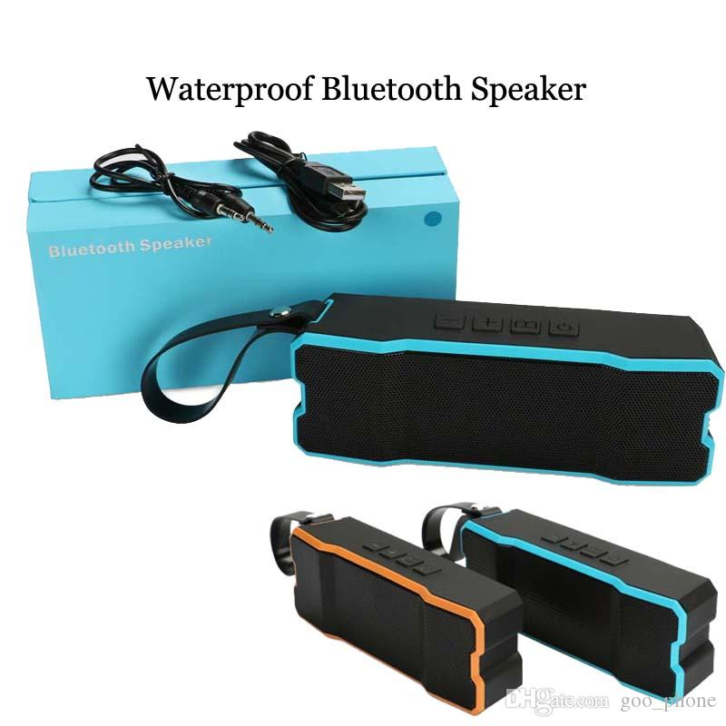 cheap for discount ba918 12683 BT801 Outdoor IPX6 Waterproof Bluetooth Speakers Wireless Subwoofer  Loudspeaker built-in 4500mA Stereo Soundbox for iphone X 8 8Plus