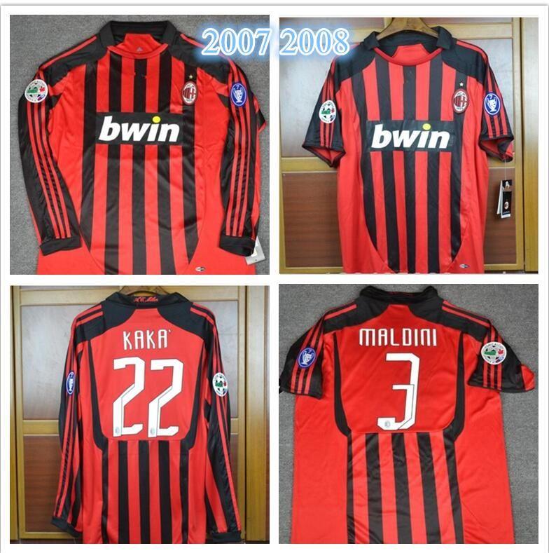 2019 07 08 Milan 13 Nesta 22 KAKA 99 Ronaldo 9 Inzaghi 3 Maldini Retro  Soccer Jersey 2007 2008 Milan Home Away Shirt Football Vintage From  Fansclubsoccer 1d4afcad6