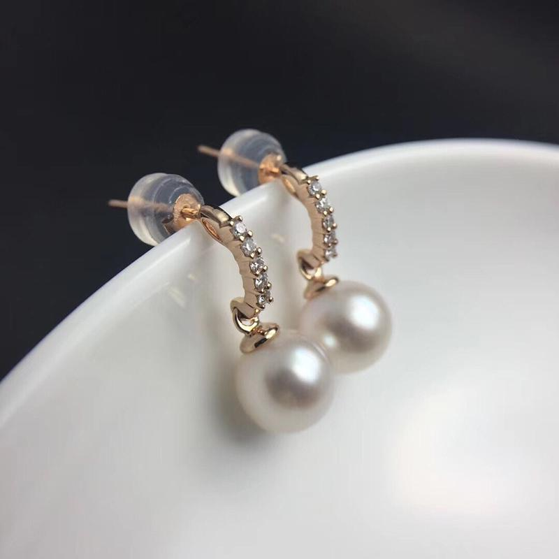 481eca559 2019 Sinya Au750 Gold Diamond Stud Earring With Natural Southsea Pearls  Earring Fashion Design Jewelry For Women Girls Mum 2018 News S923 From  Ruiqi08, ...