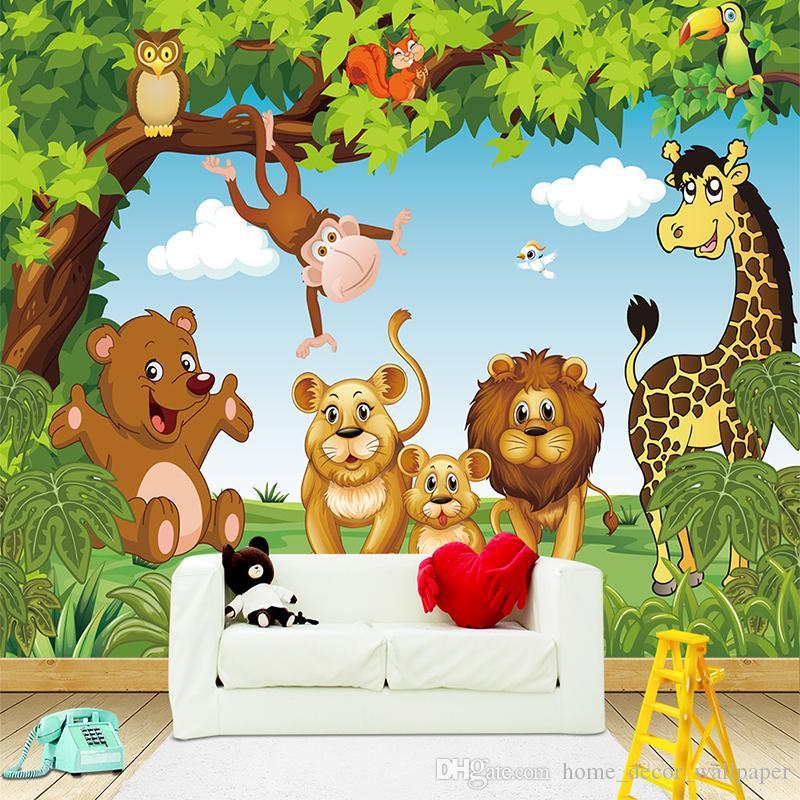 Dessin animé Animation Kids chambre murale pour les garçons et les filles  papiers peints chambre 3D papier peint mural personnalisé toute taille