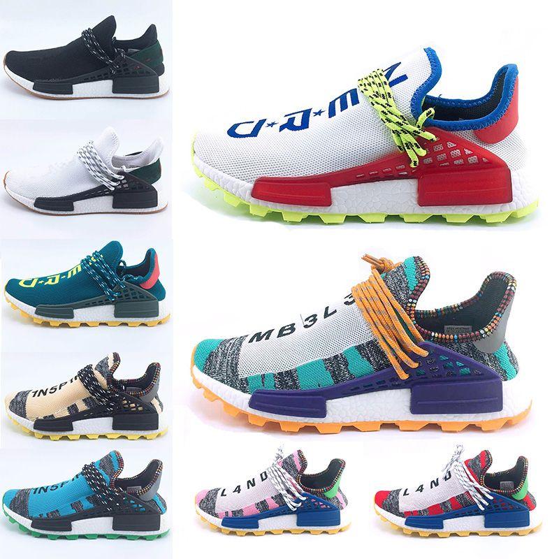 64d7beec03b 2018 New Aqua Creme X NERD Solar PacK Human Race Running Shoes Pharrell  Williams Afro Hu Trail Trainers Mens Women Sports Trainer Sneakers Human  Race ...