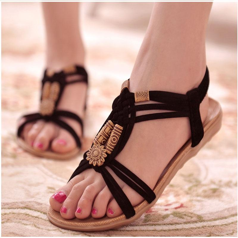 9c14bd5caef8 2017 Fashion Women Sandals Big Size Shoes Woman Gladiator Sandals Summer  Shoes Lady Beach Ladies Footwear Flip Flops Silver Wedges Brown Wedges From  Aiyin