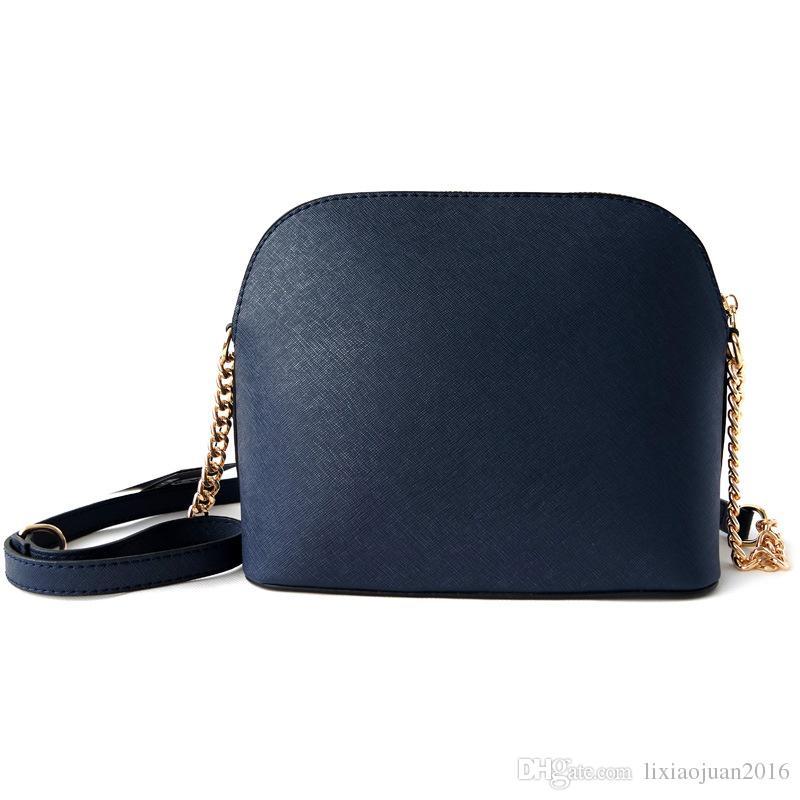 Livraison gratuite Sacs femmes shell mode européenne et américaine sac chaîne couleur or PU15 / un grand nombre de réductions