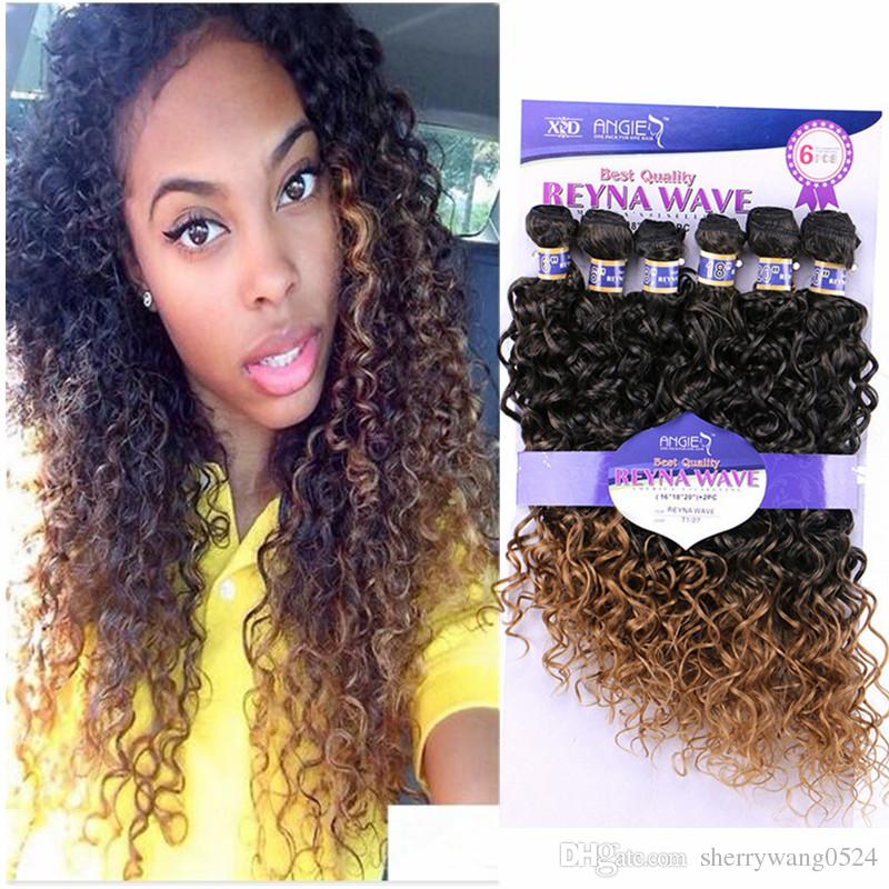 Natural Curly Hair Extensions 6bundles Mongolian Water Wave Hair Sew
