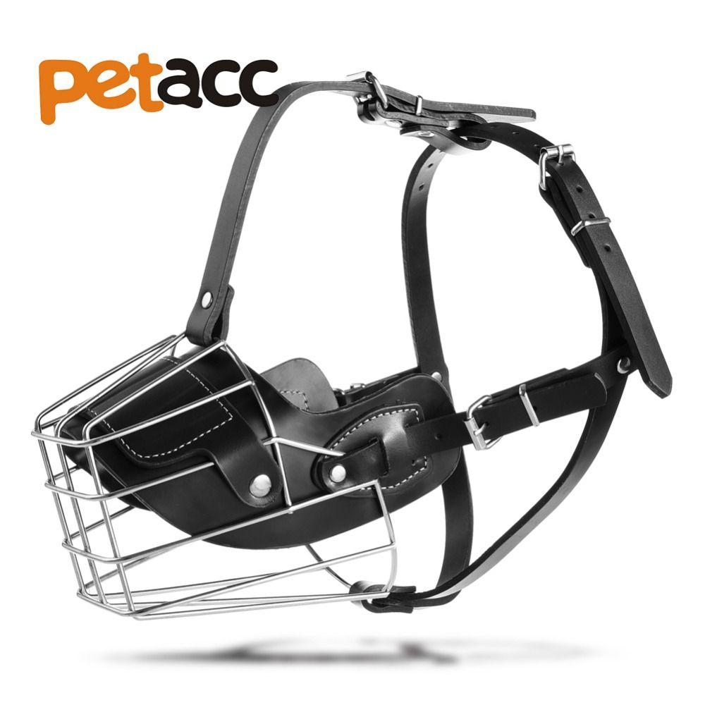 2018 Petacc Pet Dog Adjustable Metal Muzzle Anti Bite Wire Basket ...