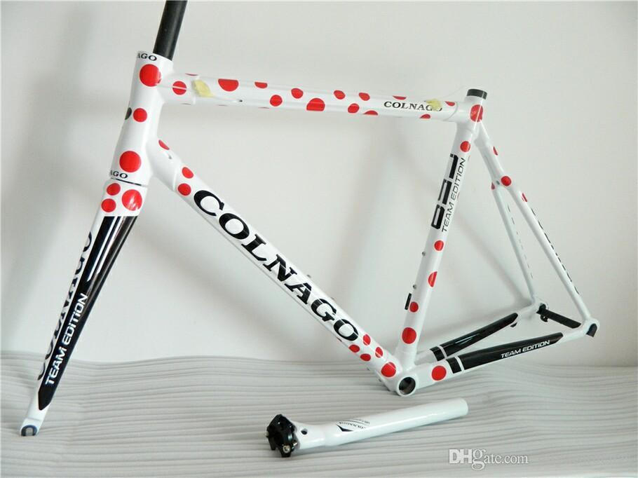 BB68 Frame + Seatpost + Çatal + Kelepçe + Kulaklık Kırmızı Colnago C59 Yol bisiklet Çerçeve tam karbon fiber bisiklet çerçevesi C60