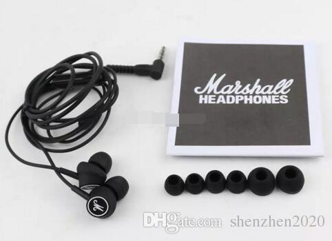 Marshall MODE Headphones In Ear Headset Black Earphones With Mic HiFi Ear Buds Headphones Universal For Mobile Phones top selling