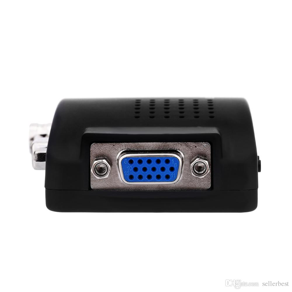США/ЕС Plug TV BNC Composite S-video AV VGA In to PC VGA LCD Out конвертер адаптер Box медицинское видео