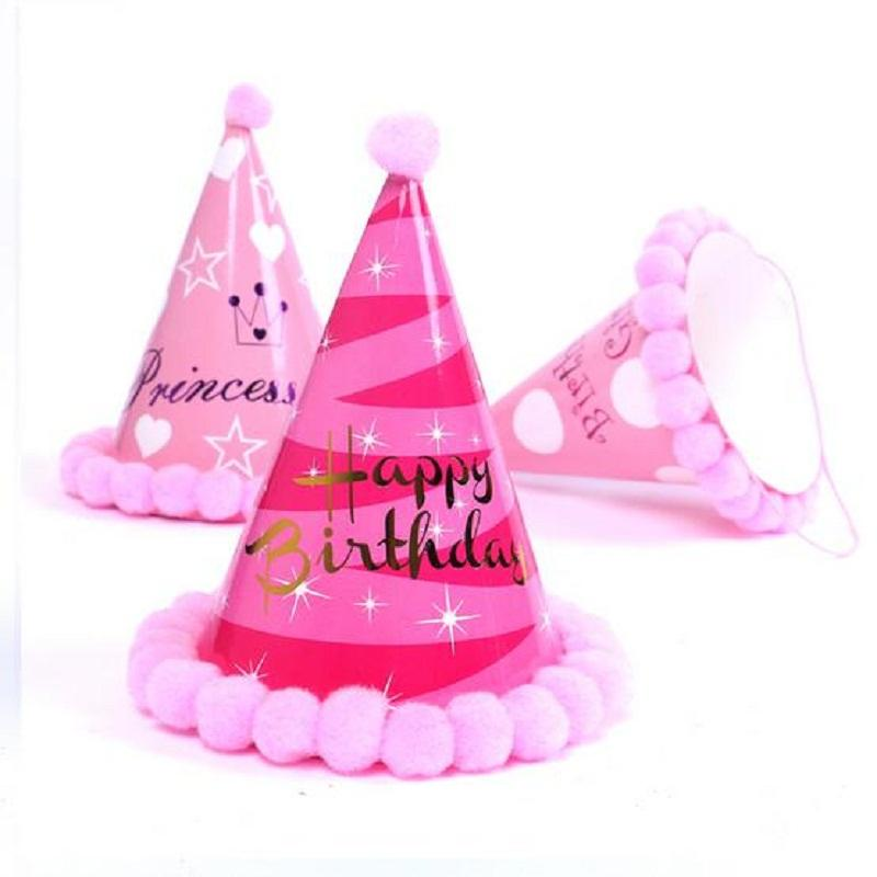 Birthday Hat Boys Girls Baby Kids Princess Party Decorations Celebration Korean Cute Hats 30th Supplies 40th From