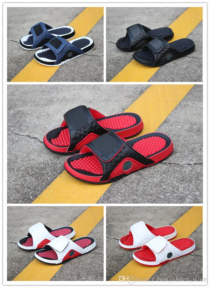 Cheap 13 XIII Men Rubber Slippers Women 13s Black White Blue Red ... 5651a02a6