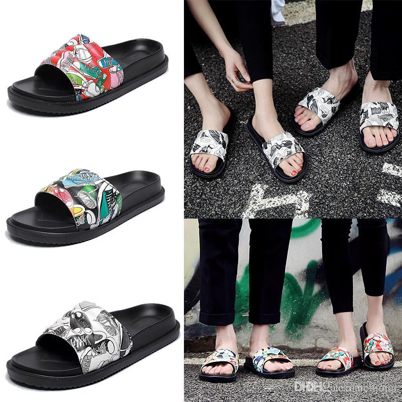 77950c795 Women Slide Summer Korean Fashion Wide Flat Slippery With Thick Sandals  Slipper House Stud Flip Flop With Spike For Female Waterproof Boots  Comfortable ...