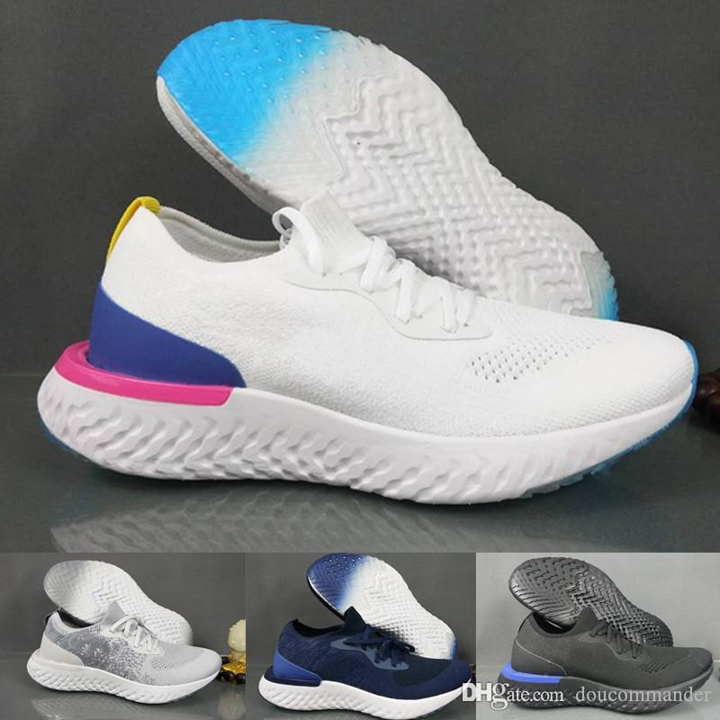 2018 New Arrival epic react Top Fly Comfortable Men casual shoes Women Knitting Casual Lightweight Breathable Sport Athletic Sneakers Shoes