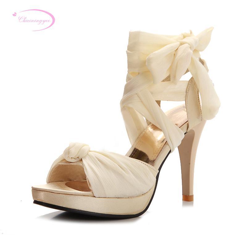 b552a0d22d7fc Wholesale Sweet Sexy Peep Toe Summer Sandals Fashion Ankle Strap Beige Black  Red Blue Platform High Heels Stiletto Women Shoes Heeled Sandals Boys  Sandals ...