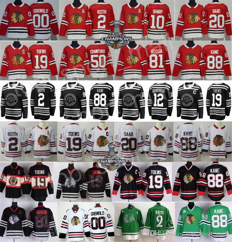 d059be47dca 2019 2019 Winter Classic Chicago Blackhawks Jersey Hockey Duncan Keith  Jonathan Toews 88 Patrick Kane Corey Crawford Alex DeBrincat Saad Griswold  From ...