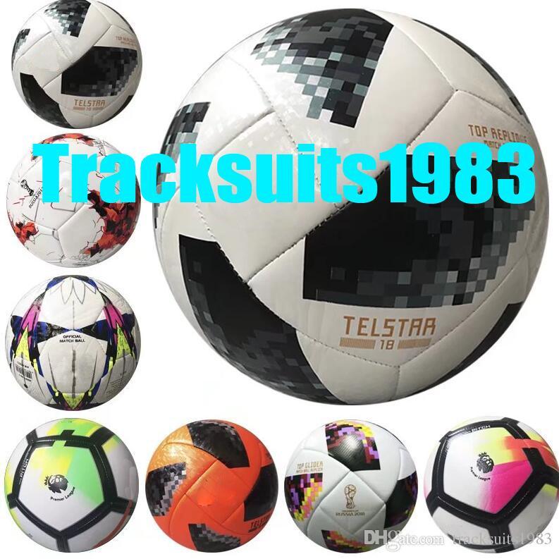 2018 New RUSSIA Premier PU Football Ball World Soccer Ball High Grade  Seamless Paste Skin Soccer Outdoor Sport Training Football Cup UK 2019 From  ... 38d116172a1b