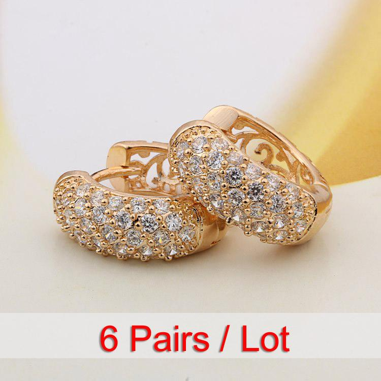 a23604a76ec7 Compre 6 Par   Lote Pequeños Aretes Aretes De Oro Para Las Mujeres  Oorbellen Boucle D Oreille Gros Pendientes Aros Orecchini Cerchi Kupe E2149  A  29.88 Del ...