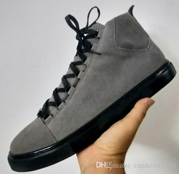 Discount Online Name Brand Man Casual Shoes Flat Kanye West Fashion  Wrinkled Leather Lace Up Low Cut Trainers Runaway Arena Shoes Size 46 Mens  Loafers Buy ... 4ce4eee27
