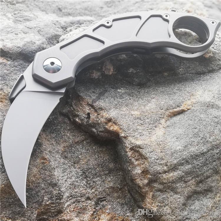 Quartermaster Murtaugh M390 karambit cuchillos QSE-14 cuchillo plegable Titanium mango M390 lámina de cerámica cojinete de bolas caza al aire libre supervivencia