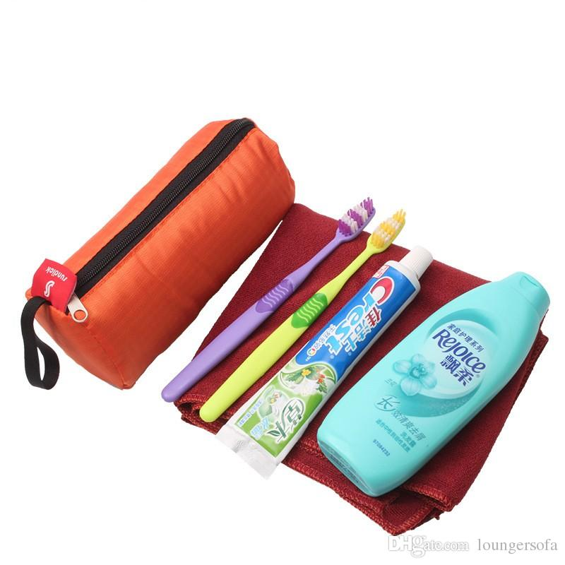 Multi Function Storage Bag For Cosmetics Towel Flashlight Color Mix Cylindrical Shape Washing Bags Convenient Outdoors Packages 2 9hs X