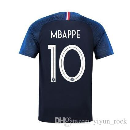 Home 2018 World Cup 2 Stars POGBA MBAPPE Soccer Jersey World Cup ... 2907778fa