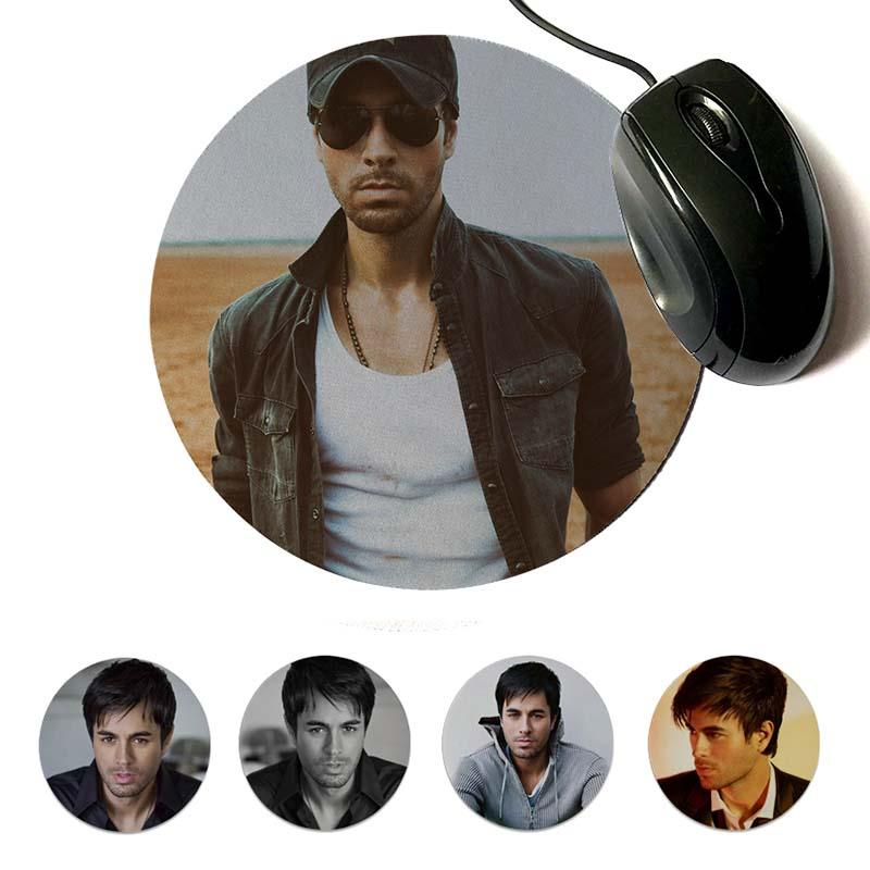 MaiYaCa Custom Skin Enrique Iglesias Gamer Speed Mice Retail Small Rubber Mousepad Round mouse pad 22x22cm 20x20cm