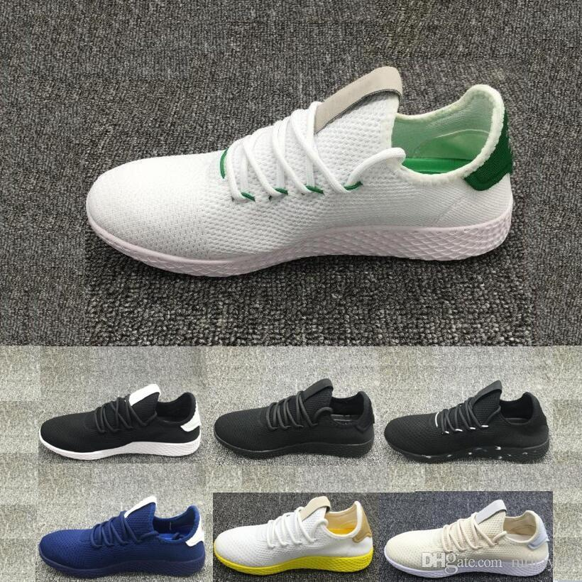 Hot Pharrell Williams HUMAN RACE Red Black Boost White Pink Stan Smith Pw  Tennis HU 3D Primeknit Mens Women R1 Sneakers Shoes Womens Shoes Cheap  Shoes From ... 1d4b212d96