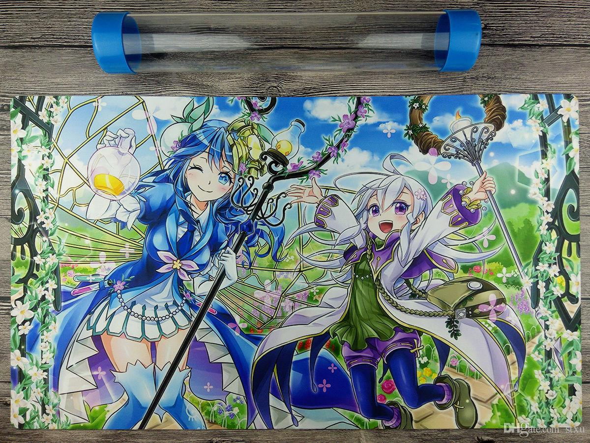 YuGiOh VRAINS Aromage Rosemary Playmat 2017 Custom TCG CCG Mat Free Best  Tube Free Shipping for receiving bags